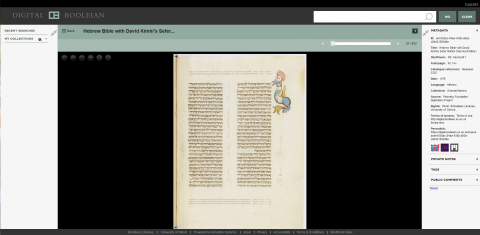 Description du Ms. Kennicot 1 dans Digital Bodleian Library Oxford