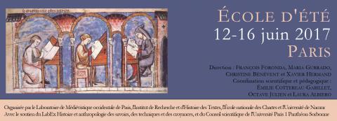 Ecole d'été : Le livre médiéval au regard des méthodes quantitatives